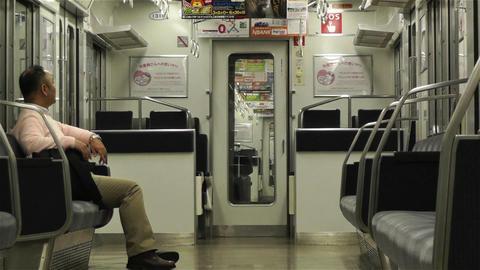 Nankai Train in Osaka Japan 5 Stock Video Footage
