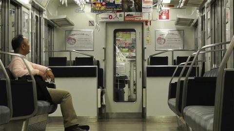 Nankai Train in Osaka Japan 5 Footage