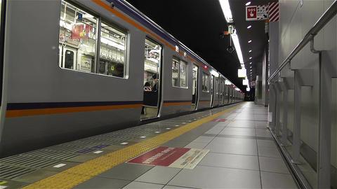 Nankai Train in Osaka Japan 9 Stock Video Footage