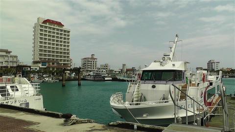 Okinawa Islands Japan 21 port Stock Video Footage