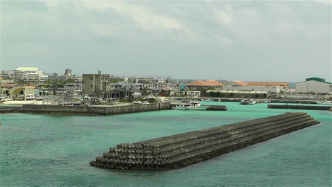 Okinawa Islands Japan 23 breakwater Stock Video Footage