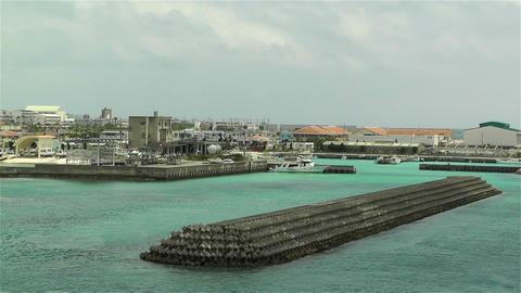 Okinawa Islands Japan 23 breakwater Footage