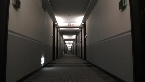 Scary Hotel Corridor 1 Stock Video Footage