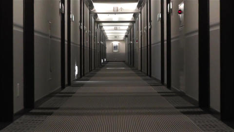 Scary Hotel Corridor 3 Zoom stock footage