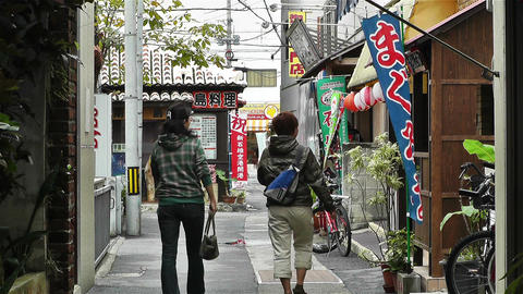 Street in Okinawa Islands 2 Stock Video Footage