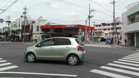 Street in Okinawa Islands 8 Stock Video Footage