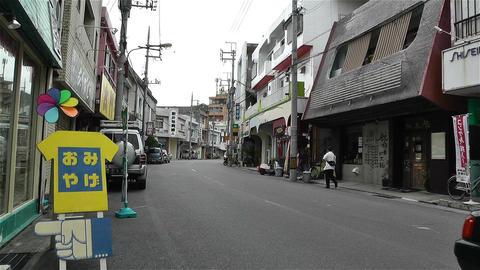 Street in Okinawa Islands 10 Stock Video Footage