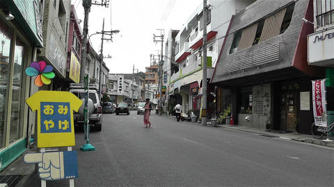 Street in Okinawa Islands 10 Stock Video Footage