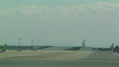 Tokyo Haneda Airport 13 ana flight Stock Video Footage
