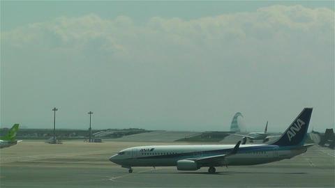 Tokyo Haneda Airport 13 ana flight Footage