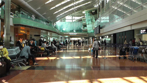 Tokyo Haneda Airport Departure Level 1 Stock Video Footage