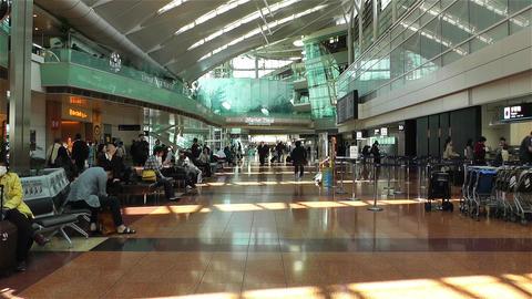 Tokyo Haneda Airport Departure Level 1 Footage