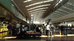 Tokyo Haneda Airport Departure Level 3 Stock Video Footage