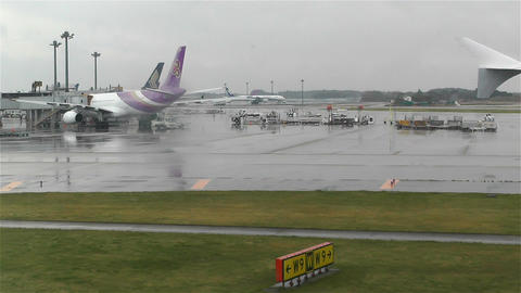 Tokyo Narita Airport 4 Stock Video Footage