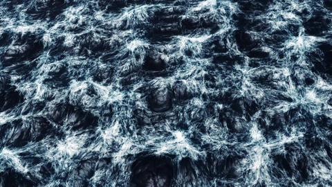 Realistic Stormy Ocean stock footage