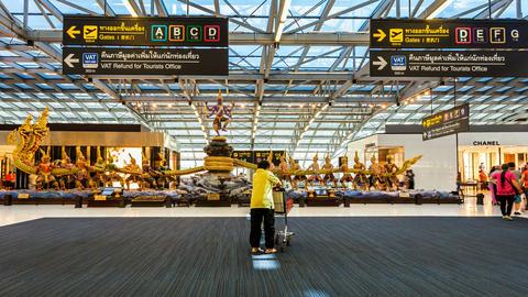 4k - Bangkok Suvarnabhumi Airport - Timelapse Stock Video Footage