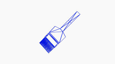 Rotation Of 3D Brush.paint,work,repair,wheel,interior,wall,roller,white,decorating,creative,Grid,mes stock footage