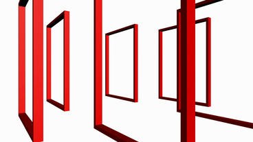 Rotation of 3D Matrix Frame container,door,windows,design,decoration,background, Animation