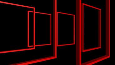 Rotation of 3D Matrix Frame... Stock Video Footage