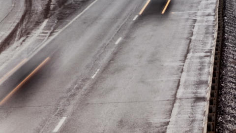 Country highway, winter Stock Video Footage