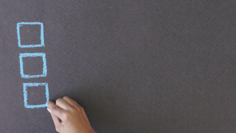 Business Process Management Chalk Drawing Stock Video Footage