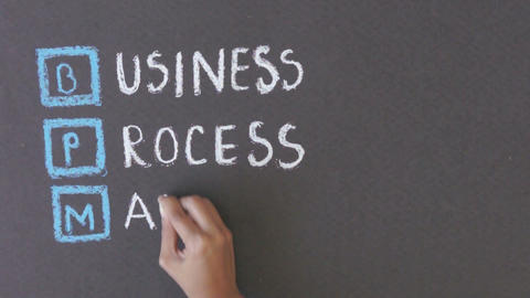 Business Process Management Chalk Drawing stock footage