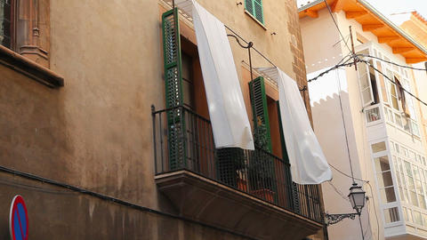 Typical house in Palma de Mallorca, Spain Stock Video Footage