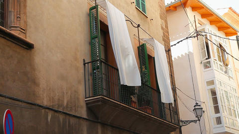 Typical house in Palma de Mallorca, Spain Footage
