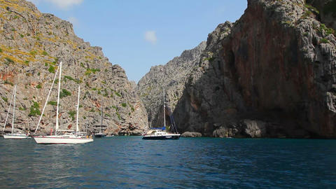 Sa Calobra, Mallorca Island, Spain Stock Video Footage