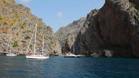 Sa Calobra, Mallorca Island, Spain Footage