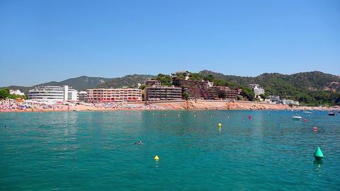 Tossa de Mar, Costa Brava in Catalonia, Spain Stock Video Footage