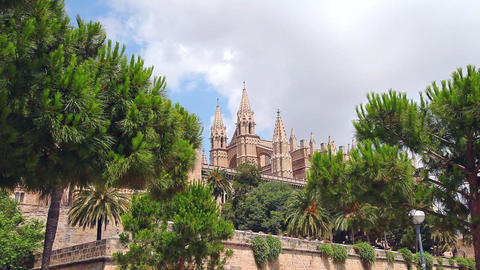 Cathedral La Seu in Palma de Mallorca, Mallorca Island,... Stock Video Footage