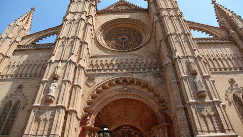 La Seu Cathedral in Palma de Mallorca Majorca in Spain Footage