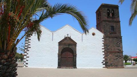 Old church on Fuerteventura Island, Spain Stock Video Footage