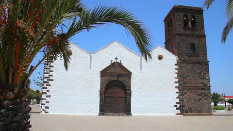 Old church on Fuerteventura Island, Spain Footage