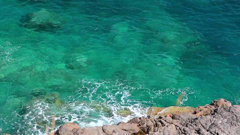 Clear crystal water, Mallorca Island, Balearic Islands,... Stock Video Footage