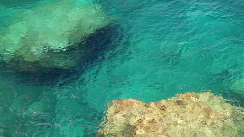 Clear crystal water, Mallorca Island, Balearic Islands, Spain Footage
