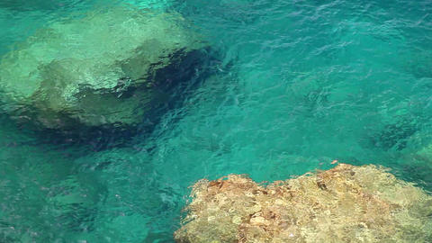 Clear crystal water, Mallorca Island, Balearic Islands,... Stock Video Footage