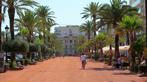Lloret de Mar, Costa Brava in Spain Stock Video Footage
