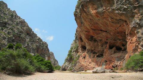 Mountains in Sa Calobra, Mallorca Majorca Island, Spain Stock Video Footage