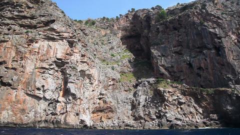 Rocky seashore of Mallorca Island, Balearic Islands, Spain Stock Video Footage