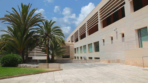 Building of Joan Miro Museum & Art Gallery in Palma de Mallroca Footage