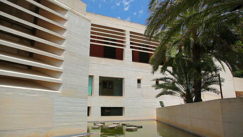 Building of Joan Miro Museum & Art Gallery in Palma de... Stock Video Footage