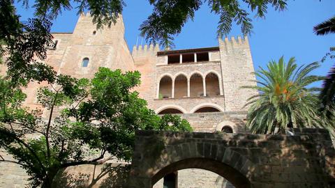 Royal Palace in Palma de Mallorca, Mallorca Island, Spain Stock Video Footage