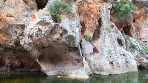 Mountains in Sa Calobra canyon, Mallorca Island, Spain Stock Video Footage