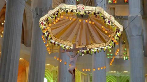 Sagrada Familia Cathedral in Barcelona, Spain Stock Video Footage