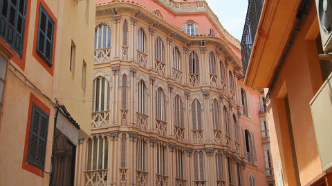 Old building in Palma de Mallorca, Mallorca Island, Spain Stock Video Footage