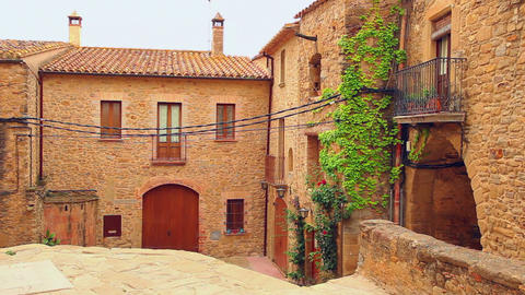 Old town in Spain Stock Video Footage