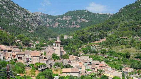 Valldemossa village, Mallorca Island, Spain Footage
