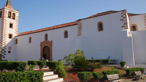 Church in Betancuria, Fuerteventura Island, Spain Stock Video Footage